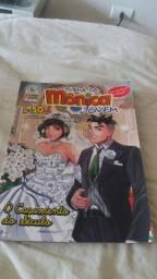 Gibi Turma da Mônica Jovem edição 50 Casamento do Século + Poster