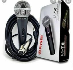 Microfone Profissional M-58*Aceito Cartao*