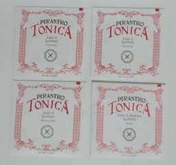 Cordas Para Violino Pirastro Tonica Conjunto 4 Cordas