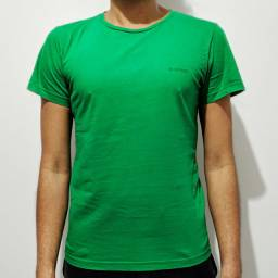 Camiseta Verde Estampada