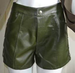 Short couro fake- Somente Número 36 - R$45,00 Cada - Entrego