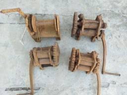 Engenho de cana moinho moenda antigo antiguidade ferro fundido