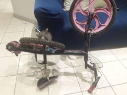 Carrinho de boneca berço shaine princess e bicicleta