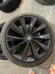 Jogo rodas aro 18 com pneus meia vida