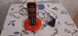Telefone Fixo Sem fio Elgin Laranja