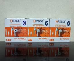 Fone de ouvido iPhone  Hrebos (7/8/X/11/12 ) com microfone Original Entrega Grátis