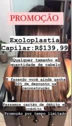 Super Promoção EXOPLASTIA CAPILAR qualquer tamanho de cabelo