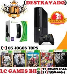 Xbox 360 Desbloqueado LT 3.0 +05 JOGOs TOPs + GARAnTIA