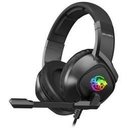 Fone Gamer Headset DN102 Draxen Rainbow Rgb Led Surround (Com Adaptador)