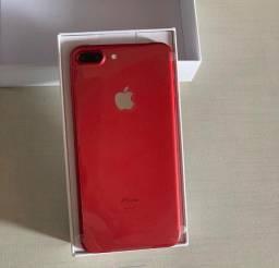 Iphone 7 plus red 32 gb em 10x205,00