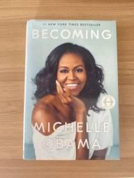 Livro Becoming Michelle Obama em inglês