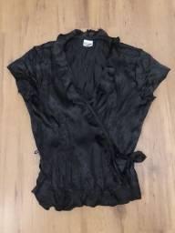 blusa preta amarração oh, boy!