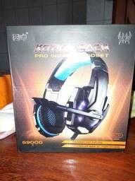 FONE GAMER HEADSET KNUP G9000 CELULAR; PS4 E PC