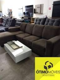 Promoção Ótimo Móveis sofá de mostruário 4 lugares com chaise por apenas 1099,00