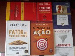 Livros Paulo Vieira, Gary Chapman e Augusto Cury