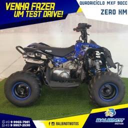 Título do anúncio: Quadriciclo 90cc Azul Zero km