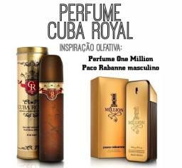 Perfume Cuba Royal Masculino 100ml -Inspiração Olfativa One Million- Pronta Entrega