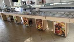 Balcões para restaurante,churrascaria self service sob medida