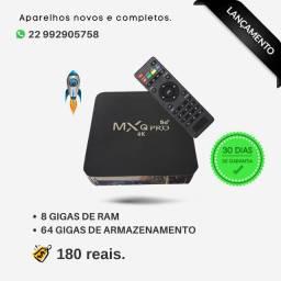 TV Box MXQ 5G Pro com 8 Gigas de RAM e 64 Gigas de Armazenamento