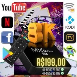 Tv Box Mxq Plus 8k 5G 2Gb/16Gb Configurada -Pronta Entrega-