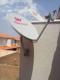 Instalação de antenas de satélite