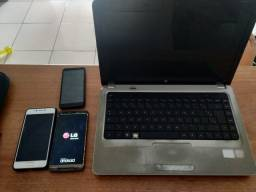 Celulares e notebook