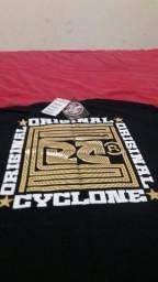 Camisa da Cyclone na etiqueta tamanho g
