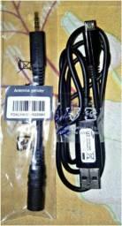 Antena e cabo de dados usb