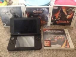 3DS xl mais 4 jogos ótimo estado