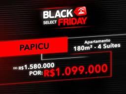 (JB) Black Friday| Apartamento no Papicu de R$ 1.580.000 por R$ 1.099.000 | 180m²|4 Suítes