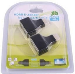 Hdmi extender bt cat- 5e/6 cabo 3d 1080p