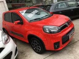 Fiat Uno 1.4 Evo Sporting 8v Flex 4 portas Automatizado vermelho 2015 - 2015