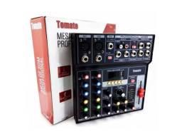 Mesa De Som Profissional Mixer 7 Canais Digital Efeitos Usb