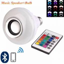 Lâmpada Led Rgb Colorida 6w E 27 Bluetooth Caixa Som 3w