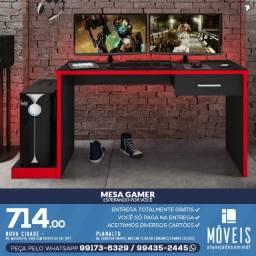 Kit gamer / Kit de mesa + prateleira + nicho para jogos de videogames