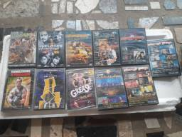 DVDs de música e filmes e etc.