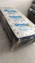 Título do anúncio: Cama Box Solteiro mais o Colchão de Espuma D33 Novo a Pronta Entrega
