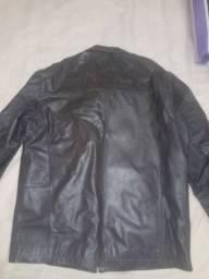 Jaqueta de couro marron