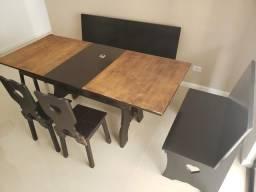 Mesa extensível, aumenta 45 cm