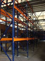 Porta-pallets orange blue