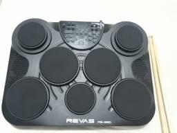 Bateria eletrônica de mesa Roland Revas PB-350 com 7 pads+ 2 pedais + 2 baquetas
