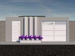 Casa nova com 3 quartos localizada no Residencial Cidade jardim
