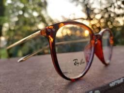 Armação de óculos Ray Ban redonda feminino