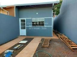 Casa Nova Asfalto com Terreno nos Fundos Região Santa Emília