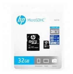 Cartão de Memória 32Gb HP Original Classe 10 U1 Micro SD com Adaptador