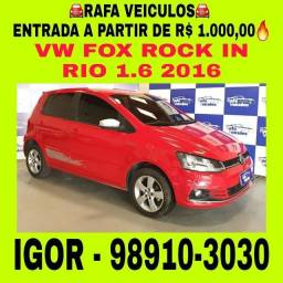 VW FOX ROCK IN RIO 1.6 FLEX 2016 1 MIL DE ENTRADA FALAR COM IGOR// trd