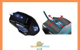 Mouse Óptico Gamer Led usb 3000dpi X-Soldado Original