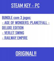 Bundle Age Of Wonders: Planetfall Deluxe Edition, Verlet Swing, Railway Empire - Steam Key
