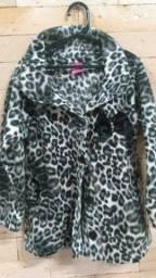 Casaco soft onça 4 anos grande veste até 6 anos