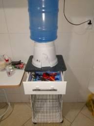 Fruteira gaveta prateleiras suporte e vaso água tudo